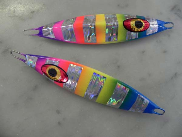 Saw rainbow slow pitch Talisman lures