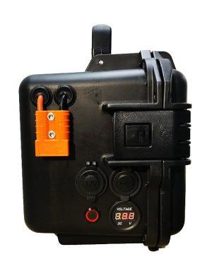 Batteria Jarocells in valigetta LITIO Li Fe Po4 50A 12V PORTATILE storm case nero 2