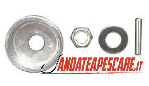 Kit Anodo-Zinco dado e perno inox per Motor Guide