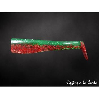 Artificiale di gomma Zanzibar JLC corpo di ricambio verde rosso